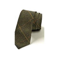 Krawat męski WOOLEN. Szare krawaty i muchy Hisoutfit, z materiału. Za 129.00 zł.