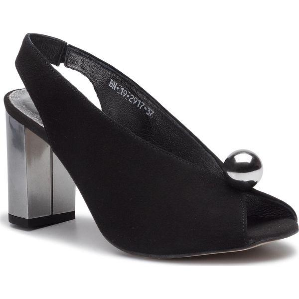 sandały damskie Karino 37 czarne bez pięty skóra