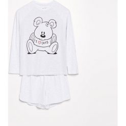 Dwuczęściowa piżama - Jasny szar. Szare piżamy damskie Reserved. Za 79.99 zł.