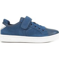 """Sneakersy """"DJRock"""" w kolorze niebieskim. Niebieskie trampki i tenisówki chłopięce Geox Kids, z gumy. W wyprzedaży za 129.95 zł."""