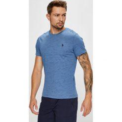 U.S. Polo - T-shirt. Szare koszulki polo męskie U.S. Polo, z bawełny. W wyprzedaży za 119.90 zł.