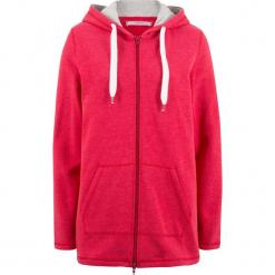 Długa bluza rozpinana, luźniejszy fason bonprix czerwony. Czerwone bluzy damskie bonprix. Za 79.99 zł.