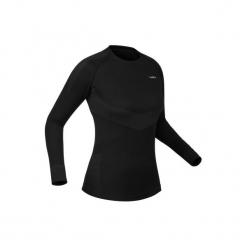 Koszulka narciarska 900 damska. Czarne t-shirty damskie WED'ZE, z elastanu. Za 79.99 zł.