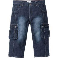 """Dżinsy 3/4 z kieszeniami z boku nogawki Regular Fit bonprix ciemnoniebieski """"used"""". Jeansy męskie marki bonprix. Za 109.99 zł."""