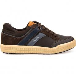 """Sneakersy """"Arzach"""" w kolorze brązowym. Brązowe trampki i tenisówki chłopięce Geox Kids, z gumy. W wyprzedaży za 129.95 zł."""