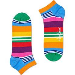 Happy Socks - Stopki Multi Stripe. Różowe skarpety damskie Happy Socks, z bawełny. W wyprzedaży za 19.90 zł.