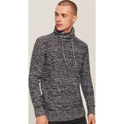 Melanżowy sweter - Szary. Swetry przez głowę męskie marki Giacomo Conti. W wyprzedaży za 59.99 zł.