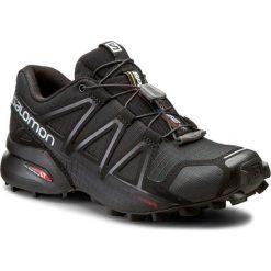 Buty SALOMON - Speedcross 4 W 383097 20 V0 Black/Black/Black Metallic. Czarne obuwie sportowe damskie Salomon, z materiału. W wyprzedaży za 369.00 zł.