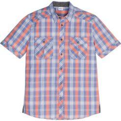 Koszula z krótkim rękawem Regular Fit bonprix matowy niebieski - mandarynka. Koszule męskie marki Giacomo Conti. Za 49.99 zł.