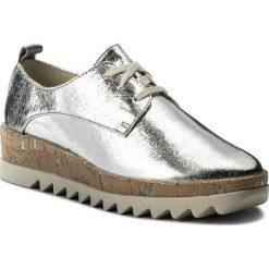 Oxfordy TOMMY JEANS - Metallic Platform Lace Up Shoe EN0EN00207 Silver 000. Szare półbuty damskie Tommy Jeans, z jeansu. W wyprzedaży za 299.00 zł.