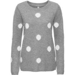 Sweter bonprix szary melanż - biały w grochy. Swetry damskie marki KALENJI. Za 89.99 zł.
