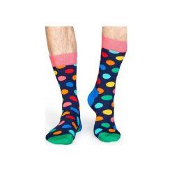 Skarpetki Happy Socks - Big Dot (BDO01-6001). Szare skarpety męskie Happy Socks, w kolorowe wzory, z bawełny. Za 34.90 zł.
