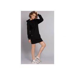 Sukienko-bluza Hot Madgirl - czarna. Czarne bluzy damskie Madnezz, z aplikacjami, z bawełny. Za 249.00 zł.