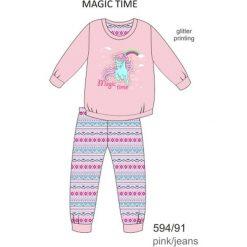 Piżama dziewczęca DR 594/91 Magic time Różowa r. 104. Czerwone bielizna dla dziewczynek Cornette. Za 49.87 zł.