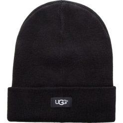Czapka UGG - W Ovrsz Cuff Beanie 17512 Black. Czarne czapki i kapelusze męskie UGG. W wyprzedaży za 179.00 zł.