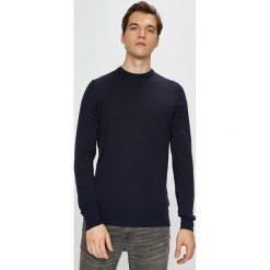 Tommy Hilfiger Tailored - Sweter. Czarne swetry przez głowę męskie Tommy Hilfiger Tailored, z dzianiny, z okrągłym kołnierzem. Za 399.90 zł.