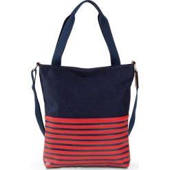 Torba shopper bonprix niebiesko-czerwony. Czerwone torebki shopper damskie bonprix, w paski. Za 79.99 zł.