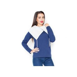 Bluza K140 Granat. Niebieskie bluzy damskie Katrus, z bawełny. Za 109.00 zł.