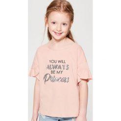 Koszulka dla dziewczynki little princess - Różowy. T-shirty damskie marki bonprix. W wyprzedaży za 19.99 zł.