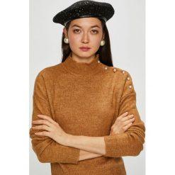 Vero Moda - Sweter Agoura. Brązowe swetry damskie Vero Moda, z dzianiny. Za 149.90 zł.