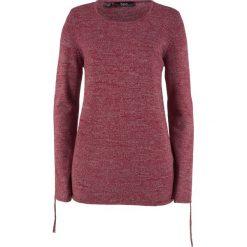 Sweter melanżowy z ozdobnym marszczeniem bonprix czerwony klonowy melanż. Swetry damskie marki KALENJI. Za 49.99 zł.