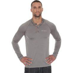 Brubeck Koszulka męska polo Prestige z długim rękawem szara r. M (LS10620). Koszulki polo męskie Brubeck, z długim rękawem. Za 215.89 zł.