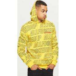 Bluza z napisami all over - Żółty. Żółte bluzy męskie Cropp, z napisami. Za 119.99 zł.
