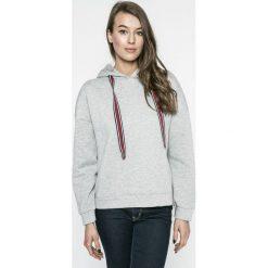 Vero Moda - Bluza Anslie. Szare bluzy damskie Vero Moda, z bawełny. W wyprzedaży za 59.90 zł.