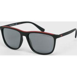 Emporio Armani - Okulary. Brązowe okulary przeciwsłoneczne męskie Emporio Armani. Za 499.90 zł.