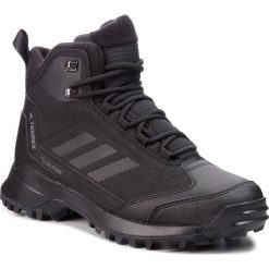 Buty adidas - Terrex Heron Mid Cw Cp AC7841 Cblack/Cblack/Grefou. Czarne trekkingi męskie Adidas, z materiału. W wyprzedaży za 479.00 zł.