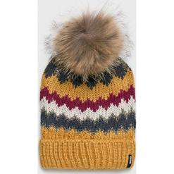 Answear - Czapka. Brązowe czapki i kapelusze damskie ANSWEAR, z dzianiny. Za 49.90 zł.