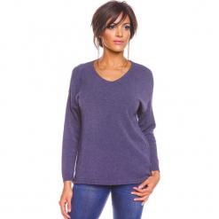 """Sweter """"Karine"""" w kolorze niebieskim. Niebieskie swetry damskie So Cachemire, z kaszmiru. W wyprzedaży za 173.95 zł."""