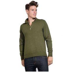 William De Faye Sweter Męski Xl Zielony. Zielone swetry przez głowę męskie William de Faye, z kaszmiru, z klasycznym kołnierzykiem. W wyprzedaży za 215.00 zł.