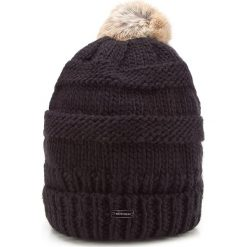Czapka damska 87-HF-200-1. Brązowe czapki i kapelusze damskie Wittchen, z dzianiny. Za 119.00 zł.