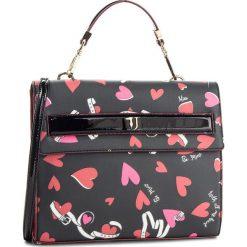 Torebka TRUSSARDI JEANS - Paprica 75B00535 K501. Czarne torebki do ręki damskie TRUSSARDI JEANS, z jeansu. W wyprzedaży za 379.00 zł.