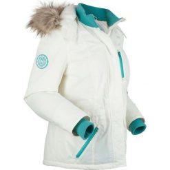 Kurtka outdoorowa na miękkiej podszewce, watowana bonprix biel wełny. Białe kurtki damskie bonprix, z wełny. Za 269.99 zł.