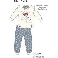Piżama dziewczęca DR 040/90 Pretty girl Ecru r. 128. Szare bielizna dla chłopców Cornette. Za 53.43 zł.