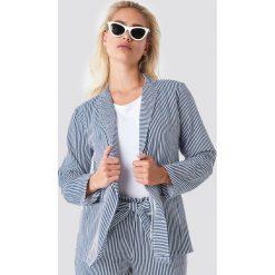 Rut&Circle Marynarka w paski Firo - Blue. Niebieskie żakiety damskie Rut&Circle, w paski, klasyczne. Za 161.95 zł.
