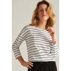 9085d614c44643 Piżama z szortami - Kremowy. Białe piżamy damskie Reserved, l, bez wzorów,