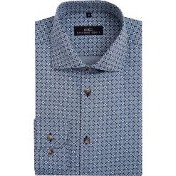 Koszula RICCARDO 16-08-05-K. Szare koszule męskie Giacomo Conti, w geometryczne wzory, z bawełny, z włoskim kołnierzykiem. Za 229.00 zł.