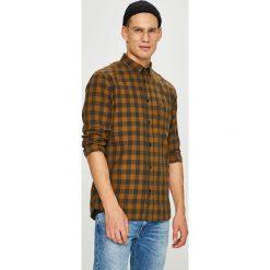 Wrangler - Koszula. Brązowe koszule męskie Wrangler, w kratkę, z bawełny, button down, z długim rękawem. Za 219.90 zł.
