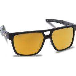 Okulary przeciwsłoneczne OAKLEY - Crossrange Patch OO9382-0460 Matte Black/24k Iridium. Czarne okulary przeciwsłoneczne męskie Oakley, z tworzywa sztucznego. W wyprzedaży za 549.00 zł.