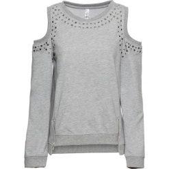 Bluza z wycięciami bonprix jasnoszary melanż. Bluzy damskie marki KALENJI. Za 119.99 zł.