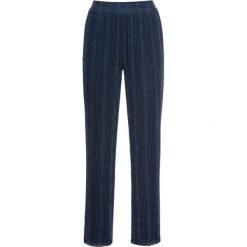 Spodnie z połyskiem bonprix niebiesko-srebrny. Spodnie materiałowe damskie marki DOMYOS. Za 124.99 zł.