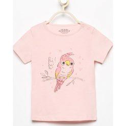 T-shirt z delikatnym nadrukiem - Różowy. T-shirty i topy dla dziewczynek marki bonprix. Za 14.99 zł.