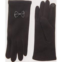 Rękawiczki z kokardkami - Czarny. Rękawiczki damskie marki B'TWIN. W wyprzedaży za 19.99 zł.