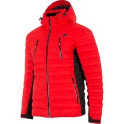 Kurtka narciarska męska KUMN155Z - czerwony. Czarne kurtki męskie 4f, na jesień, z dzianiny. W wyprzedaży za 999.99 zł.