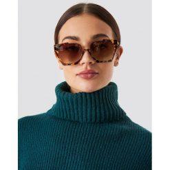 NA-KD Accessories Okulary przeciwsłoneczne Open Frame - Brown. Brązowe okulary przeciwsłoneczne damskie NA-KD Accessories. W wyprzedaży za 56.67 zł.
