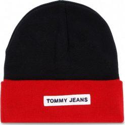 Czapka TOMMY JEANS - Tju Logo Beanie AU0AU00193  901. Niebieskie czapki i kapelusze damskie Tommy Jeans. Za 179.00 zł.