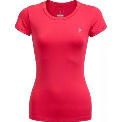Koszulka treningowa damska TSDF600 - różowy - Outhorn. Czerwone bluzki damskie Outhorn, z materiału. W wyprzedaży za 29.99 zł.